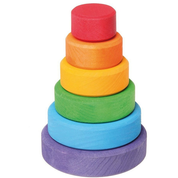 Grimm's Rainbow Stacking Tower - Wiggles Piggles