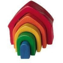 Grimm's Stacking Rainbow House - Wiggles Piggles