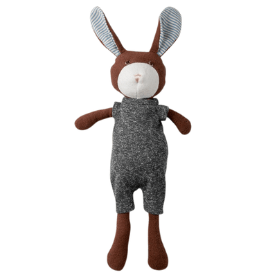 Hazel Village Lucas Rabbit in Stormy Grey Romper