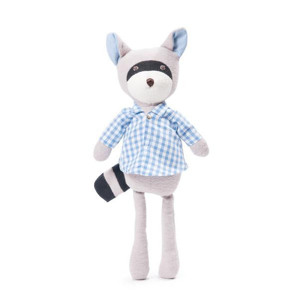 Hazel Village Max the Raccoon in Gingham Shirt (PREORDER) - Wiggles Piggles