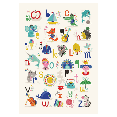 Petit Monkey ABC Poster