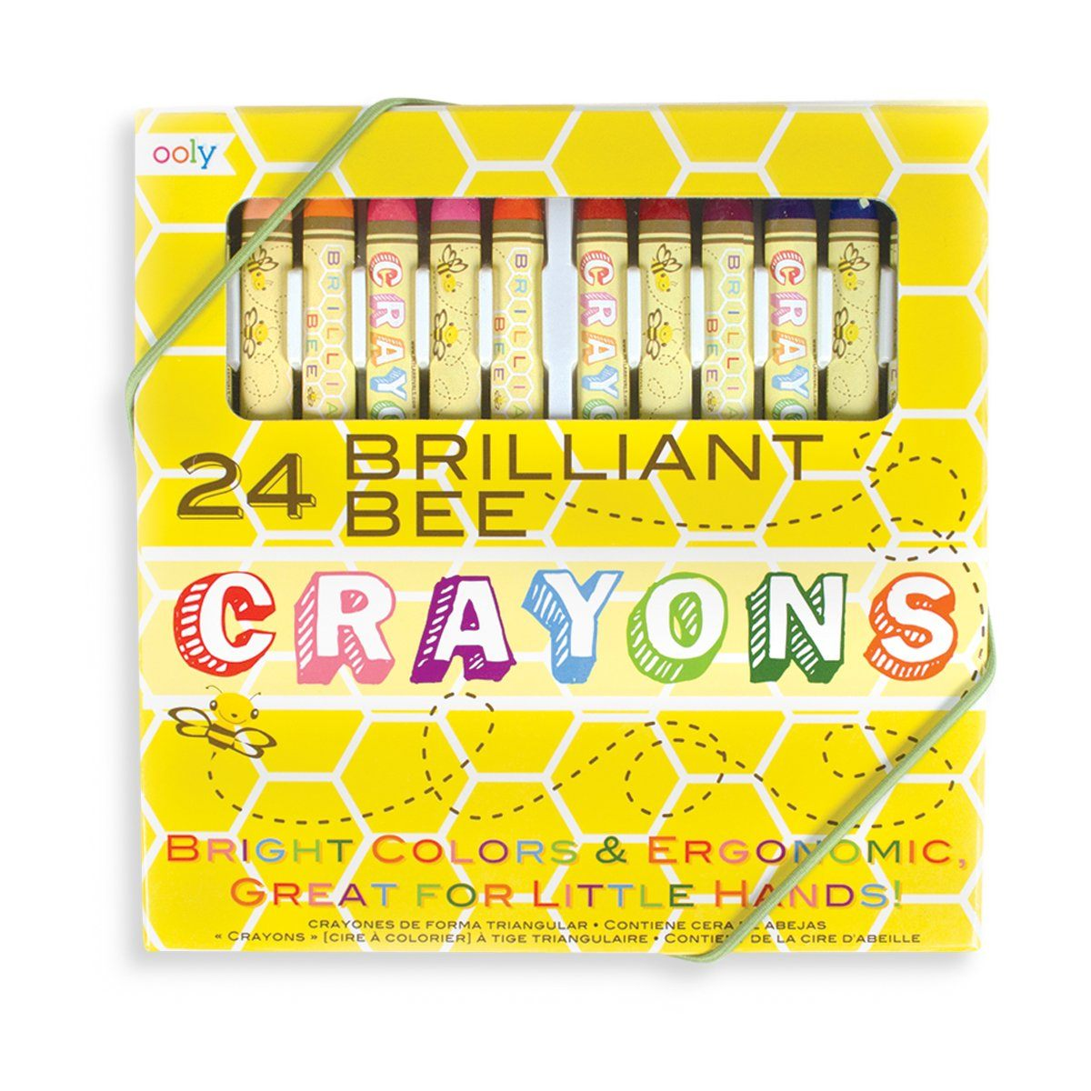 Ooly Brilliant Bee Crayons (Set of 24)