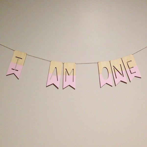 Custom Made Bamboo Word Bunting - Wiggles Piggles  - 1