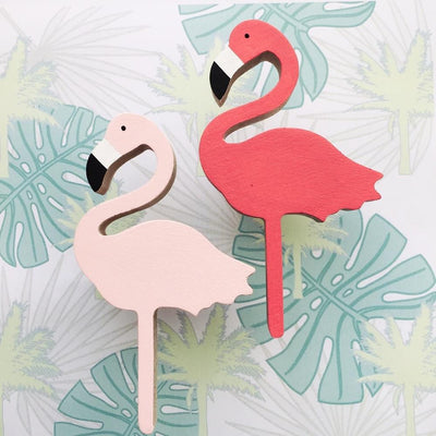 Flamingo Wall Hook - Wiggles Piggles  - 1