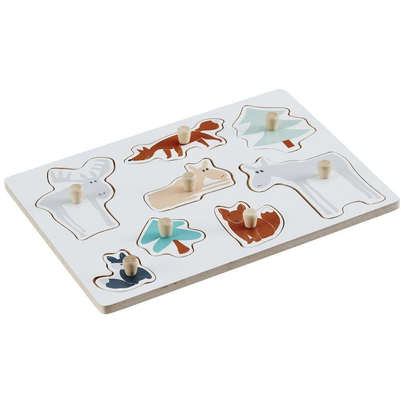 Kids Concept Edvin Animal Peg Puzzle - Wiggles Piggles