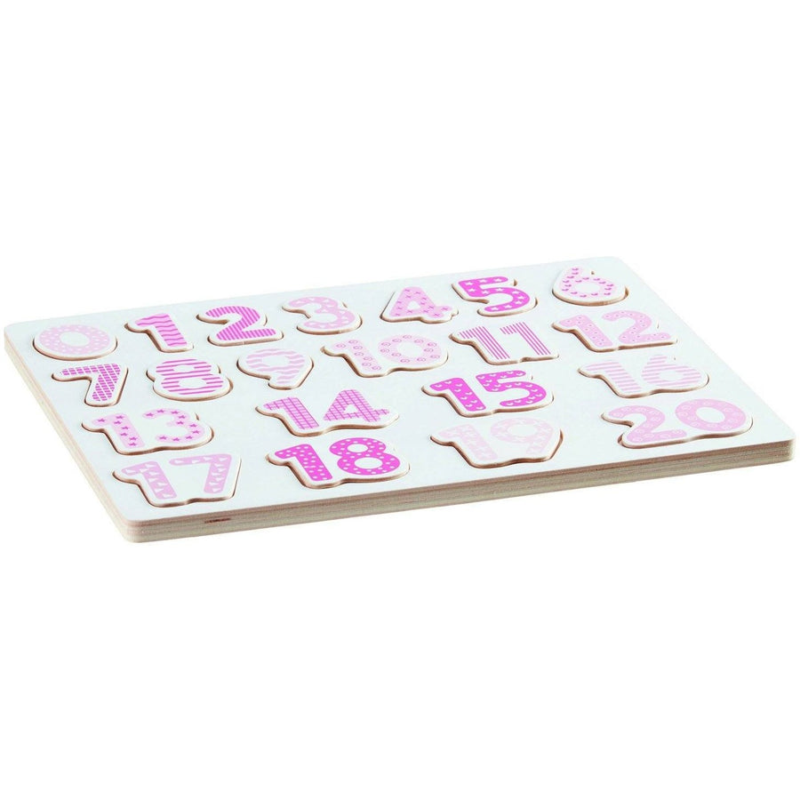 Kids Concept Number Puzzle - Pink - Wiggles Piggles