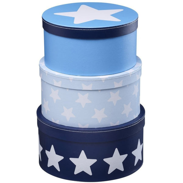 Kids Concept Star Round Box Set - Blue - Wiggles Piggles