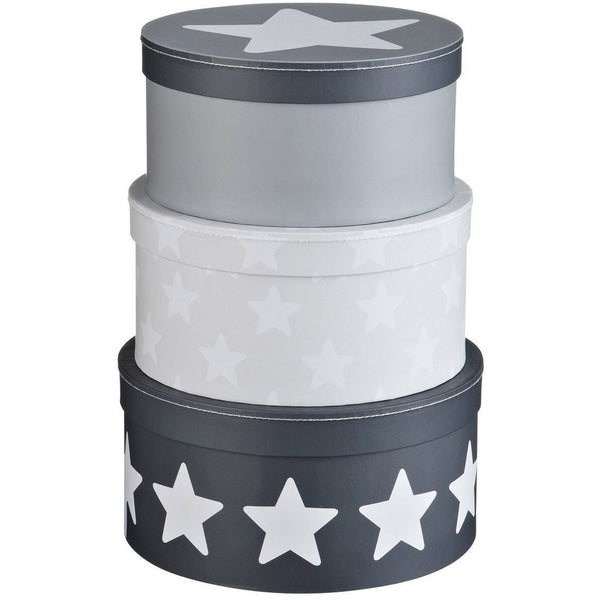 Kids Concept Star Round Box Set - Grey - Wiggles Piggles