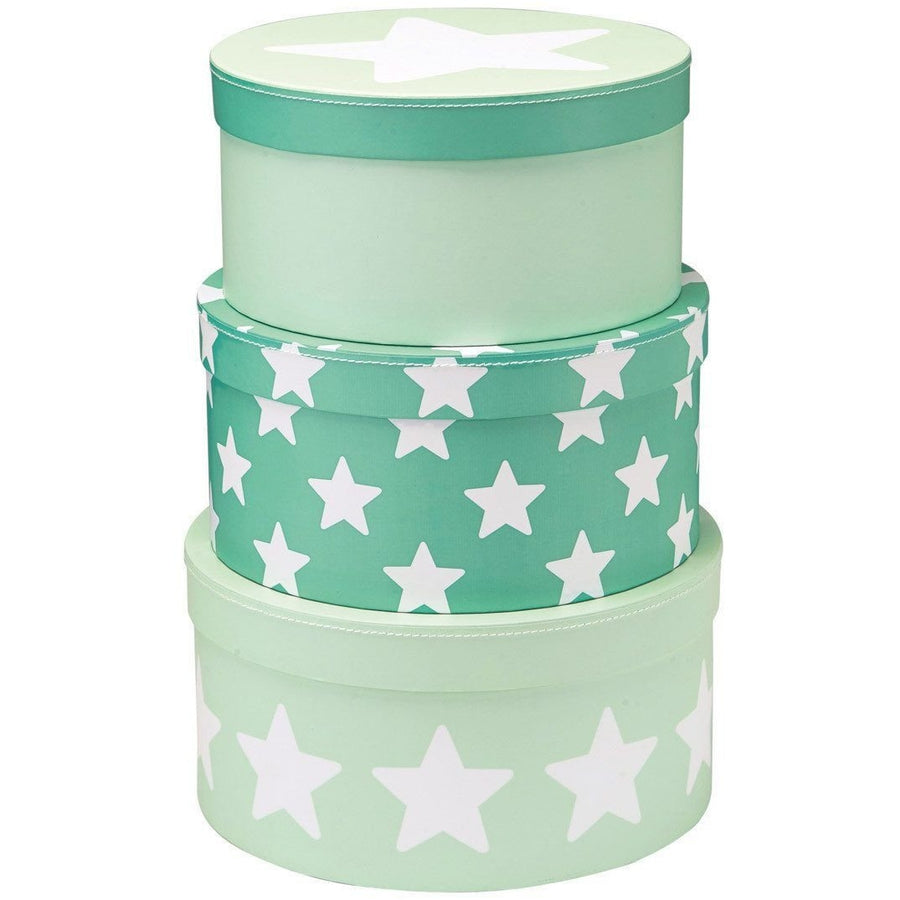 Kids Concept Star Round Box Set - Mint - Wiggles Piggles