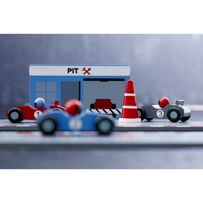 Kids Concept Racing Car Set - Blue - Wiggles Piggles  - 5