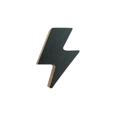 Lightening Bolt Hook - Black