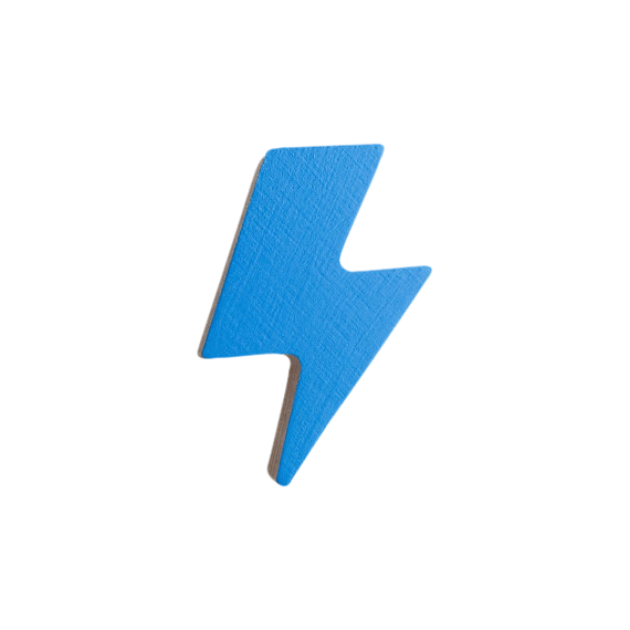 Lightening Bolt Hook - Blue