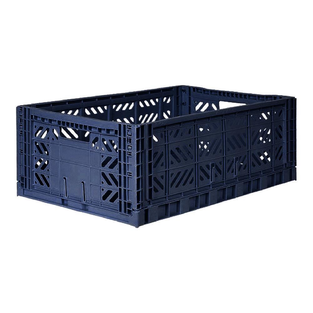 Lillemor Lifestyle Maxi Folding Crate (Navy)