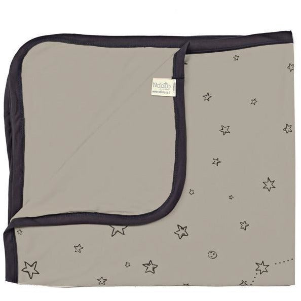 Ndoto Textile Stars Galaxy Blanket - Grey - Wiggles Piggles