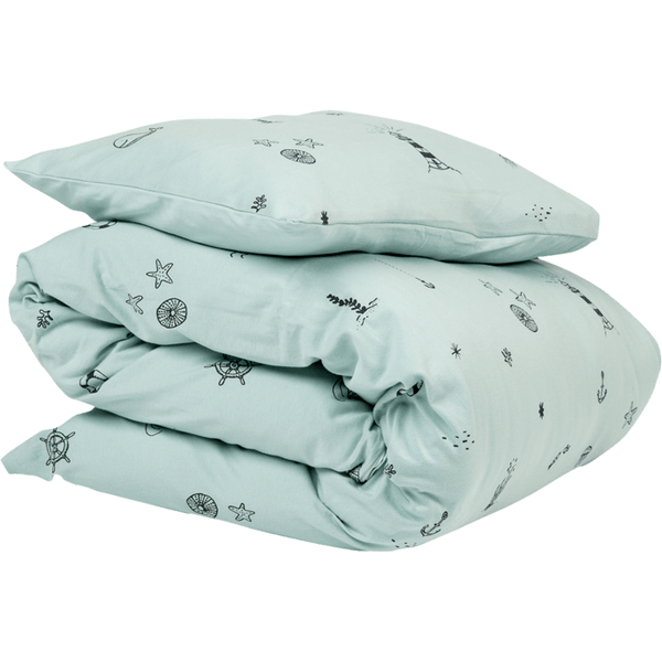 Ndoto Textile Under The Sea Cot Quilt Set - Blue - Wiggles Piggles