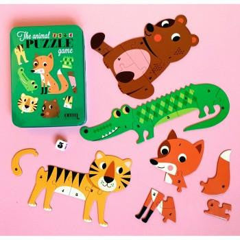 Omm Design Animal Dice Puzzle Game