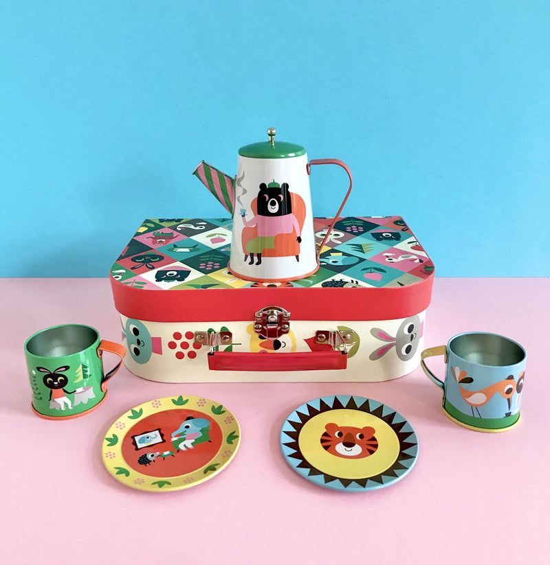 Omm Design Animal Tea Tin Set