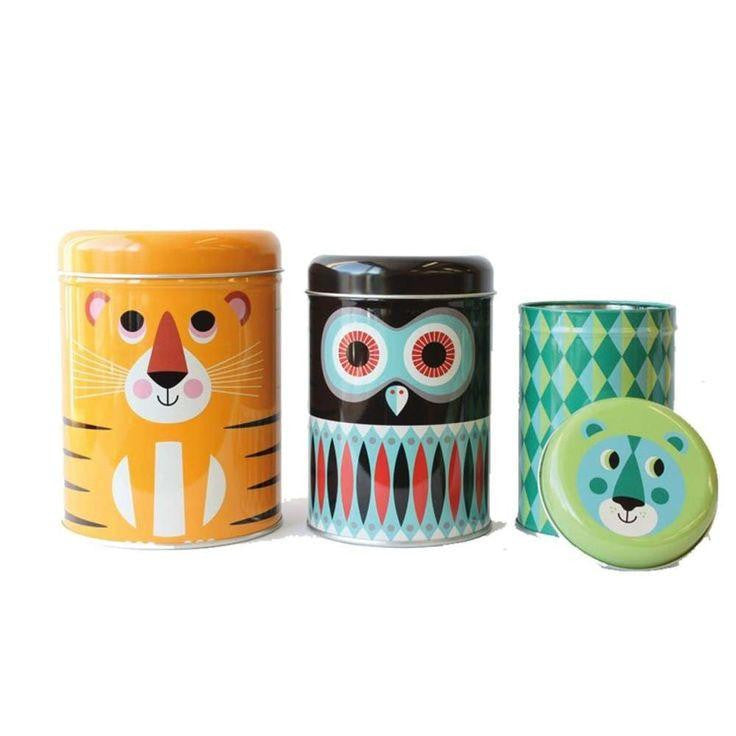 Omm Design Animal Cannisters - Wiggles Piggles