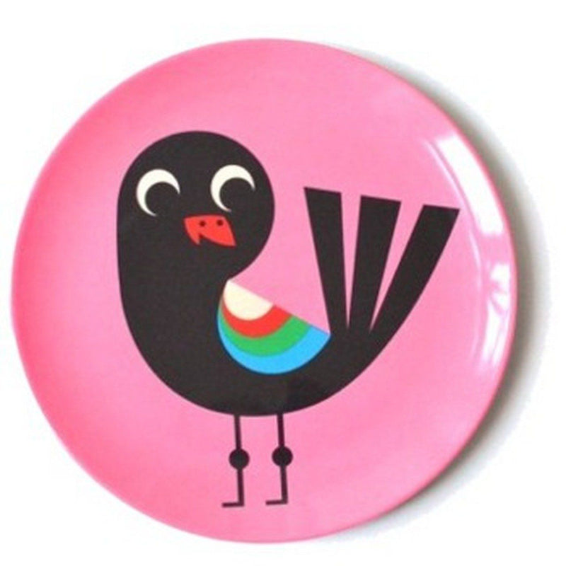 Omm Design Pink Bird Plate
