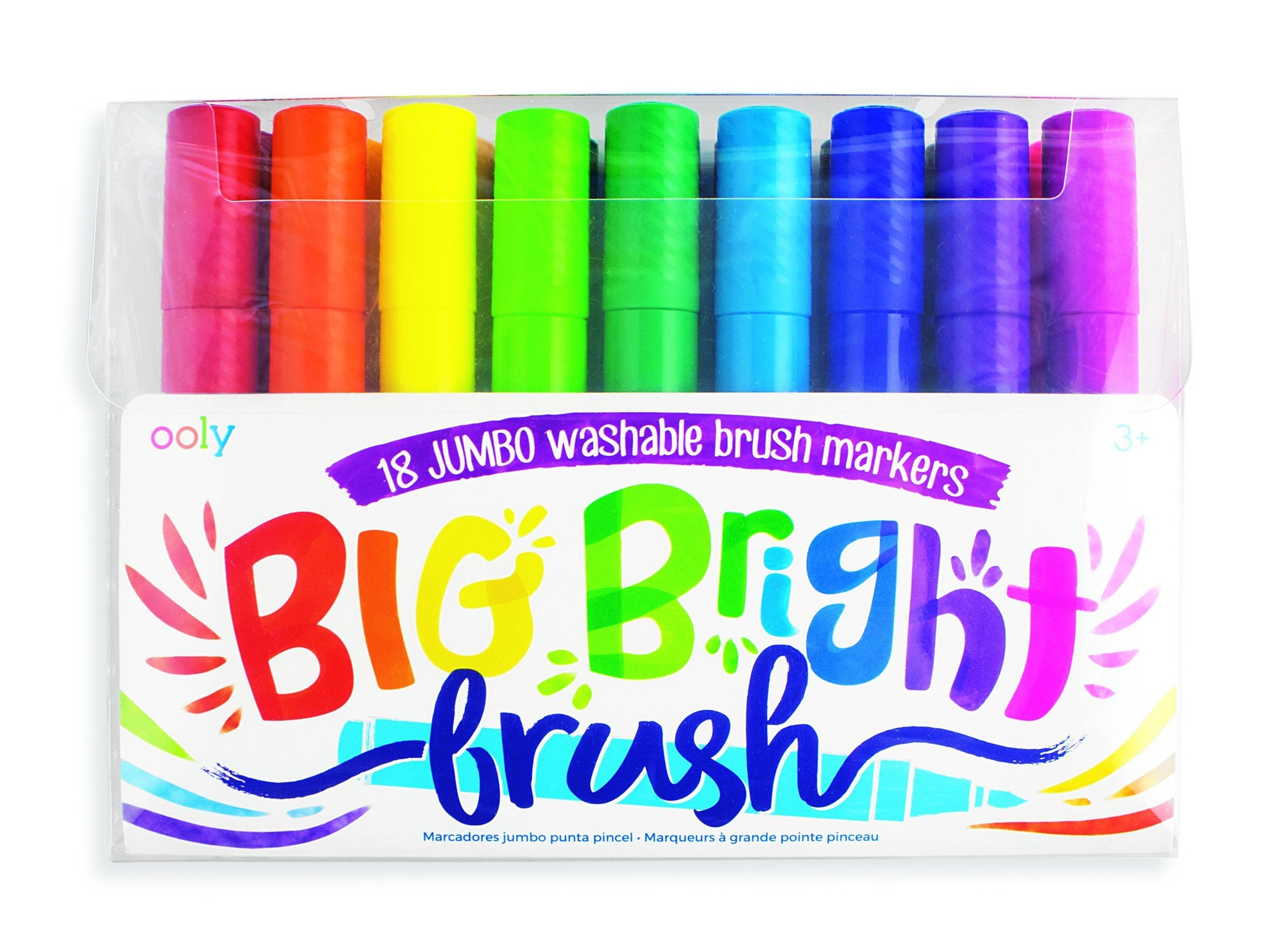 Ooly Big Bright Brush Markers (18 Pack)