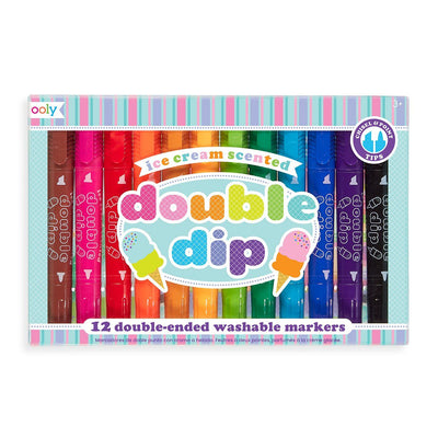 Ooly Double Dip Tip Scented Ice-Cream Markers (Set of 12)