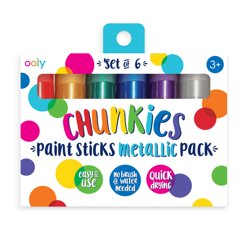 Ooly Metallic Chunkies Paint Sticks (Set of 6)