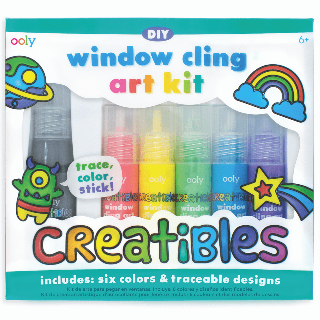 Ooly Creatibles - Window Cling Art Set