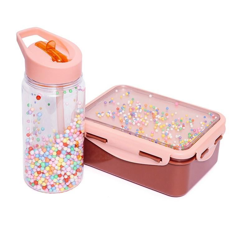 Petit Monkey Popsicles Lunchbox (Desert Rose)