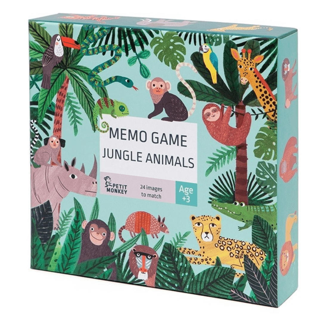 Petit Monkey Jungle Animals Memo Game
