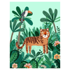Petit Monkey Tiger Poster
