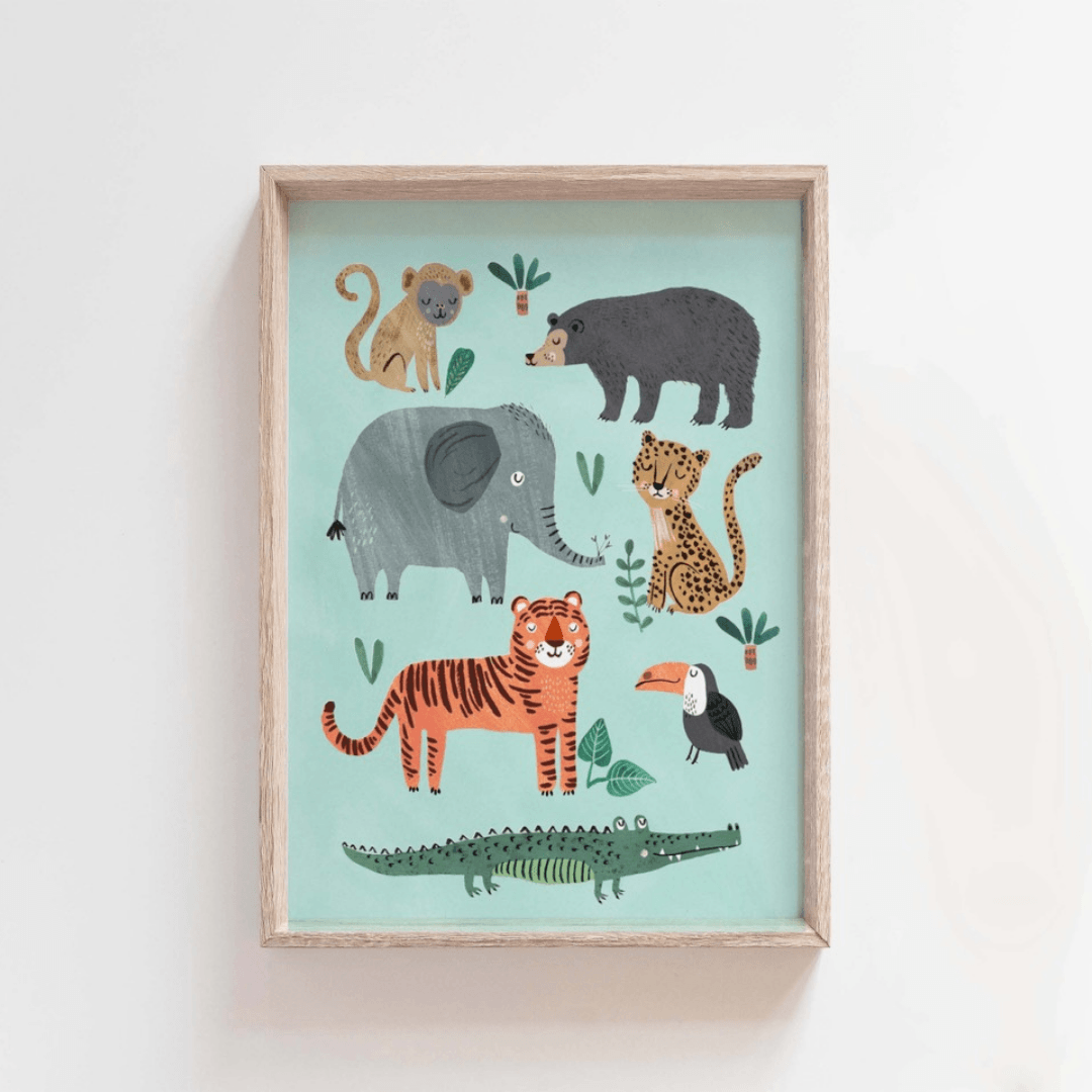 Petit Monkey Wild Animals Poster