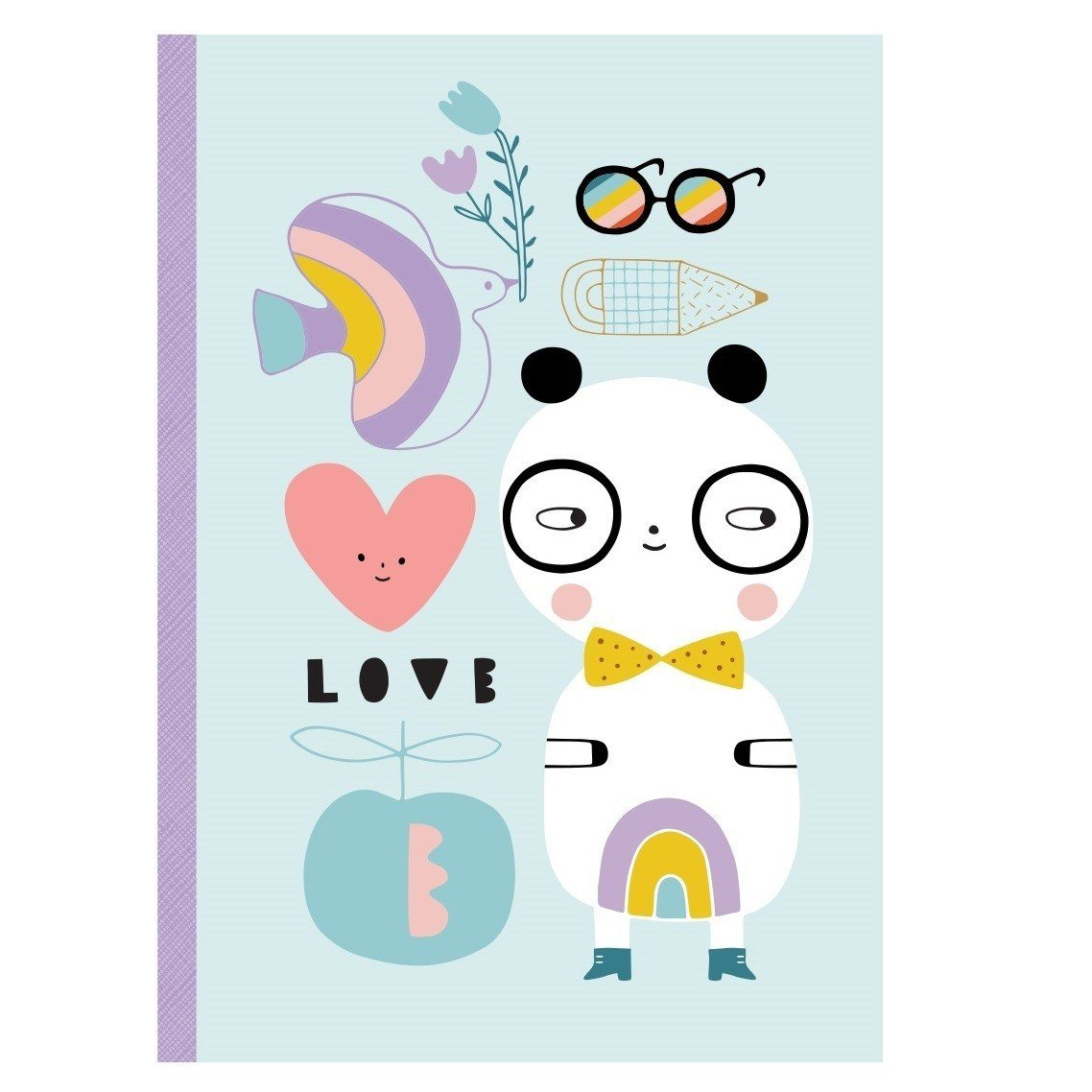 Petit Monkey Notebook (Panda Love)