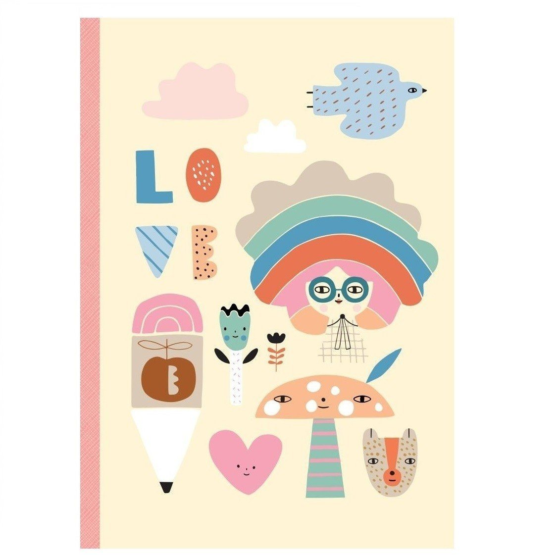 Petit Monkey Notebook (Rainbow Girl)