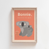Koala Cuddles Birth Poster