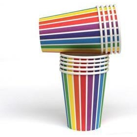 Rainbow Paper Cups - Wiggles Piggles