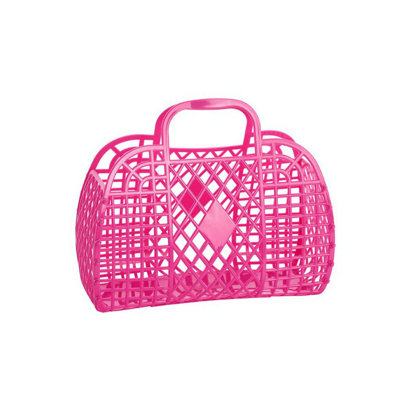 Sun Jellies Hot Pink Basket (Large)