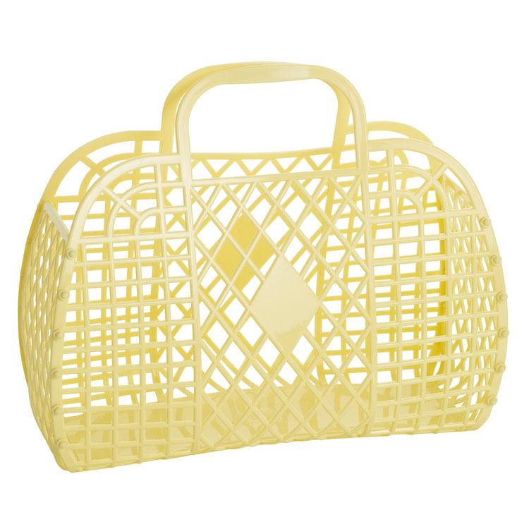 Sun Jellies Yellow Basket (Large)