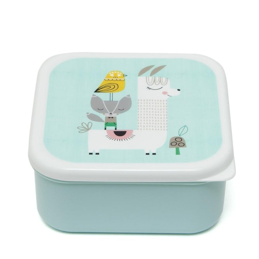 Petit Monkey Lunchbox Set (Llama & Friends)