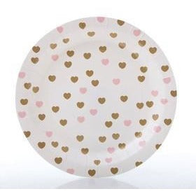 Sweetheart Paper Plates - Wiggles Piggles