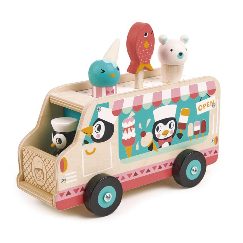Tender Leaf Toys Penguins Gelato Van