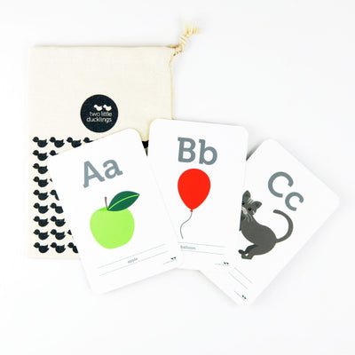 Two Little Ducklings Flash Cards (Alphabet)