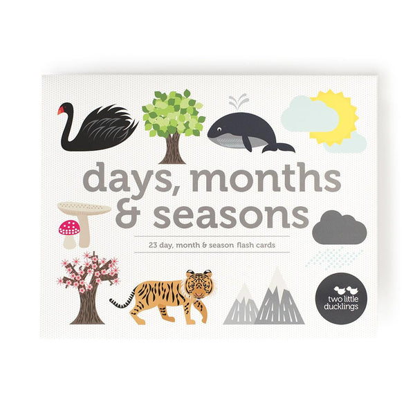Day, Month & Seasons Flash Cards