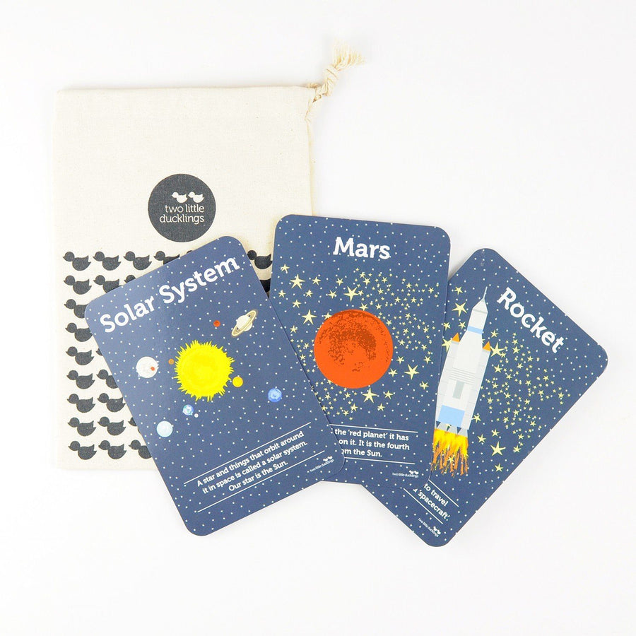 Two Little Ducklings Flash Cards (Space)
