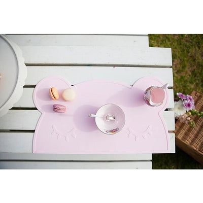 We Might Be Tiny Bear Placemat Pink