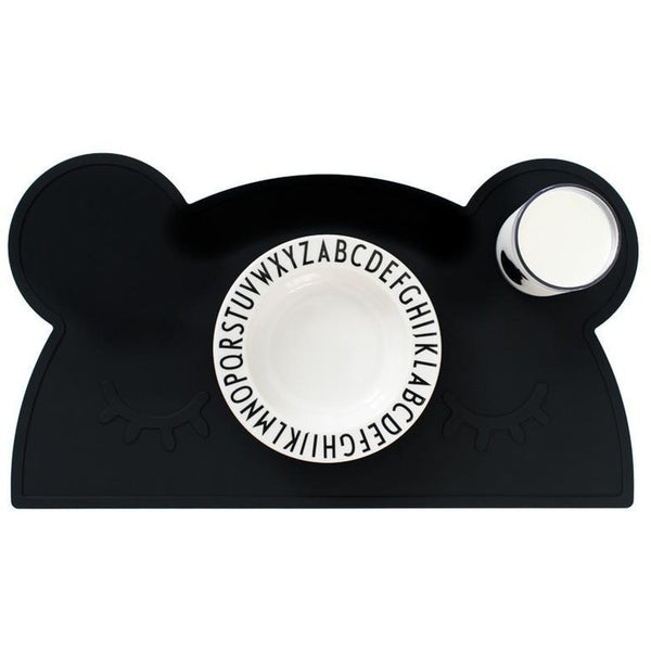 We Might Be Tiny Bear Placemat Black - Wiggles Piggles  - 1