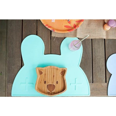 We Might Be TIny Bunny Placemat Mint
