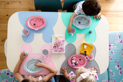 We Might Be Tiny Bunny Placemat Grey