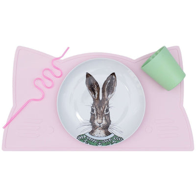 We Might Be Tiny Cat Placemat - Pink