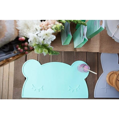 We Might Be Tiny Bear Placemat Mint