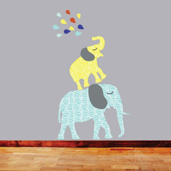 Elephant Fabric Decal - Boys - Wiggles Piggles  - 1